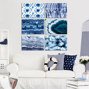 Blue Tones Canvas Set Wall Art - Abstract