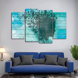 Bluesy Tunes Multi Panel Canvas Wall Art - Music