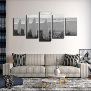 Board View Multi Panel Canvas Wall Art - Surfing