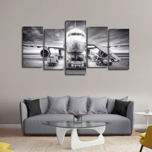 Boarding Time Multi Panel Canvas Wall Art - Airplane