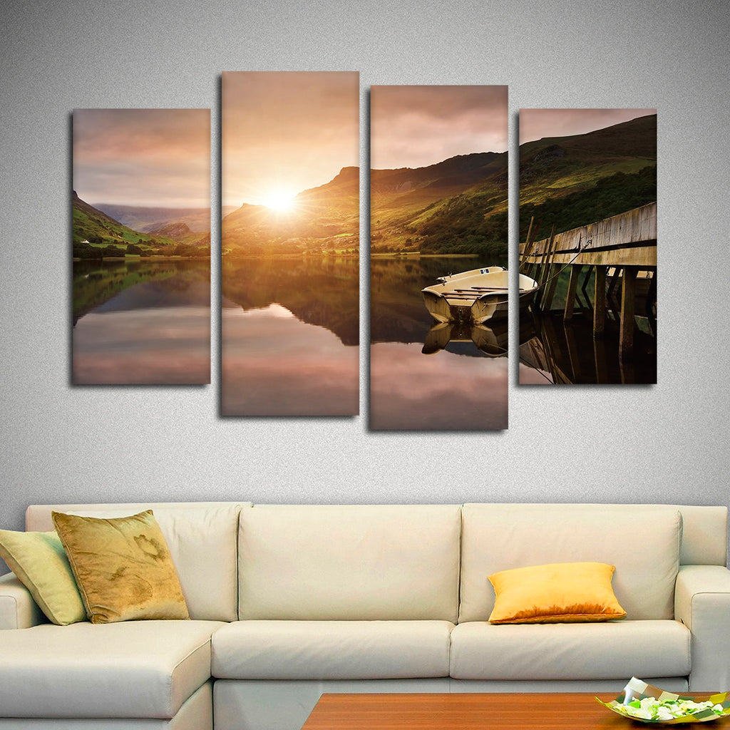 Boat Dock Multi Panel Canvas Wall Art Elephantstock
