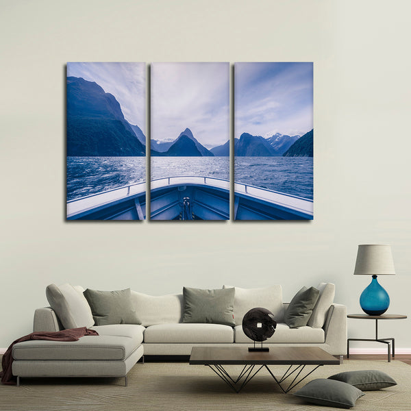 Boat View Multi Panel Canvas Wall Art