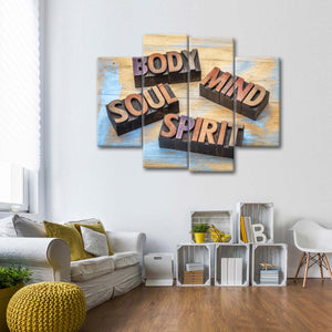 Body And Soul Multi Panel Canvas Wall Art - Nutrition