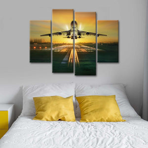 Boeing 747 Multi Panel Canvas Wall Art - Airplane