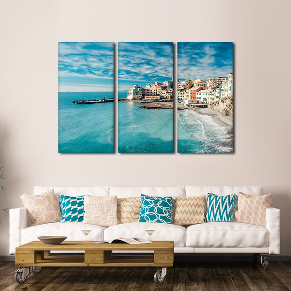 Bogliasco Fishing Village Multi Panel Canvas Wall Art