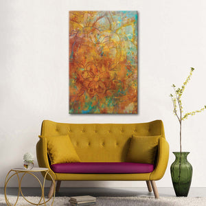 Bohemian Abstract Bright Multi Panel Canvas Wall Art - Abstract