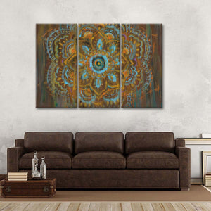 Bombay Bohemian Multi Panel Canvas Wall Art - Abstract
