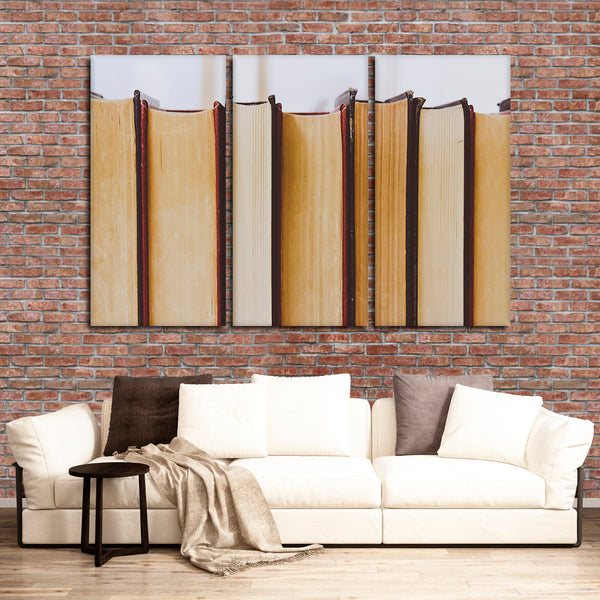Books Multi Panel Canvas Wall Art