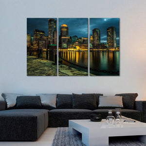 Boston Harbor Multi Panel Canvas Wall Art - City