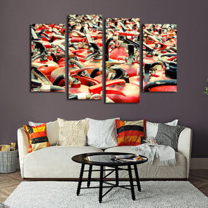 Bountiful Extinguishers Multi Panel Canvas Wall Art - Firefighters