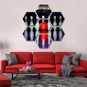 Bowling Multi Panel Canvas Wall Art - Bowling