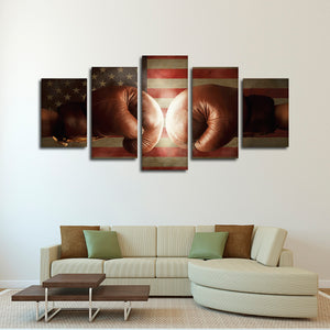 Boxing Champion Multi Panel Canvas Wall Art - Boxing
