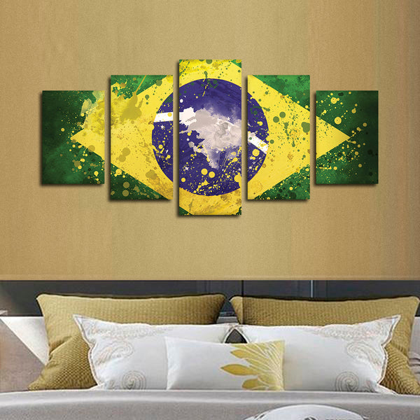 Brazilian Flag Multi Panel Canvas Wall Art | ElephantStock