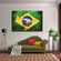 Brazilian Flag Multi Panel Canvas Wall Art