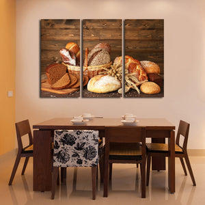 Bread Assortment Multi Panel Canvas Wall Art - Kitchen