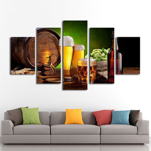 Brew Beer Multi Panel Canvas Wall Art - Winery