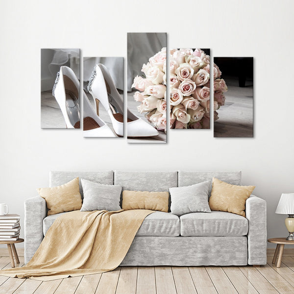 Bride To Be Multi Panel Canvas Wall Art