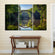 Bridge Reflection Multi Panel Canvas Wall Art
