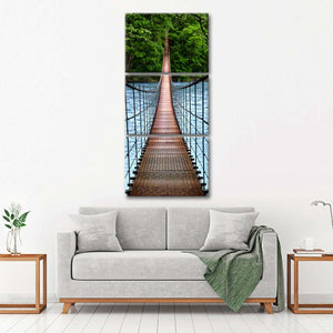 Bridge To Calmness Multi Panel Canvas Wall Art - Bridge