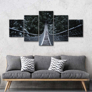 Bridge To Fulfillment Multi Panel Canvas Wall Art - Bridge