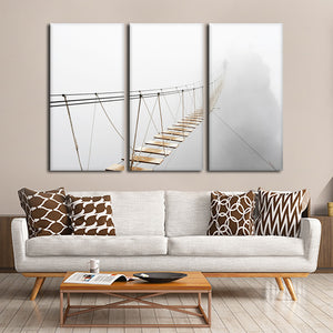 Bridge Over The Abyss Multi Panel Canvas Wall Art - Nature
