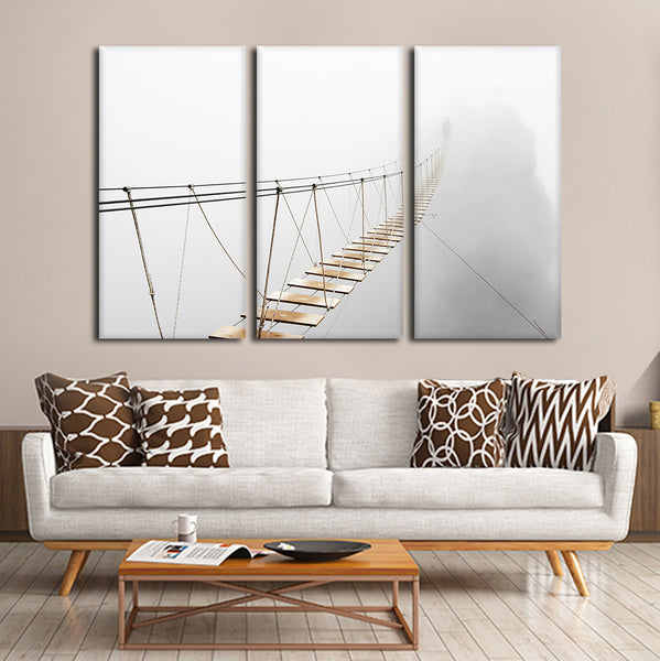 Bridge Over The Abyss Multi Panel Canvas Wall Art