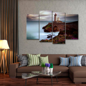 Bridged Lighthouse Multi Panel Canvas Wall Art - Lighthouse