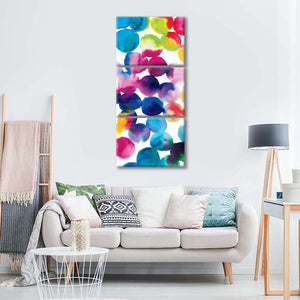 Bright Circles II Multi Panel Canvas Wall Art - Abstract