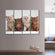 British Kittens Multi Panel Canvas Wall Art