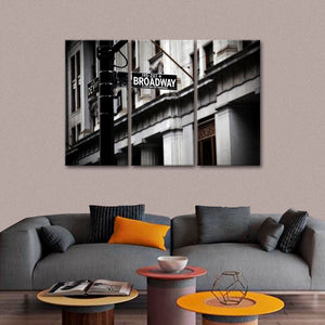 Broadway Street Multi Panel Canvas Wall Art - Landmarks