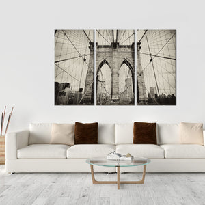 Brooklyn Bridge Multi Panel Canvas Wall Art - City