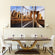 Brooklyn Bridge Sunrise Multi Panel Canvas Wall Art