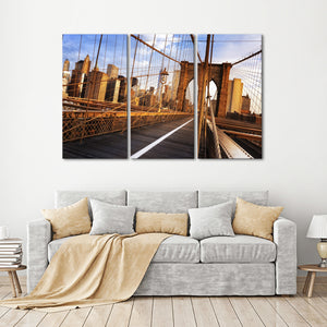 Brooklyn Bridge Sunrise Multi Panel Canvas Wall Art - City