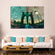 Brooklyn Bridge at Dusk Multi Panel Canvas Wall Art