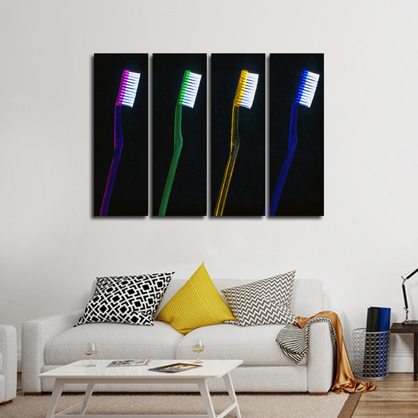 Brush Your Teeth Multi Panel Canvas Wall Art
