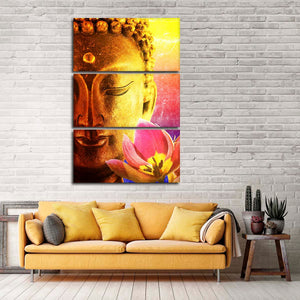 Lotus Essence Buddha Multi Panel Canvas Wall Art - Buddhism