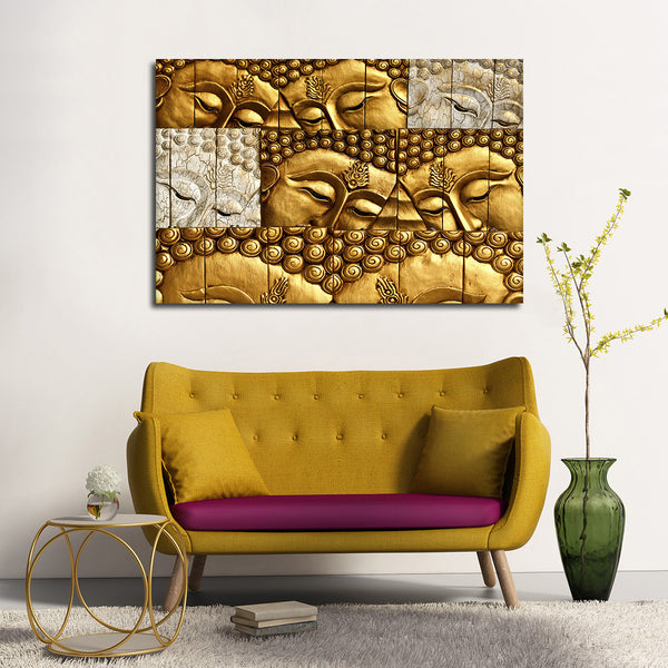 Buddha Collage Multi Panel Canvas Wall Art | ElephantStock