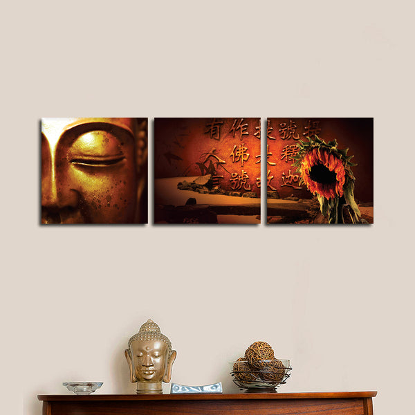 Buddhas quotes multi panel canvas wall art