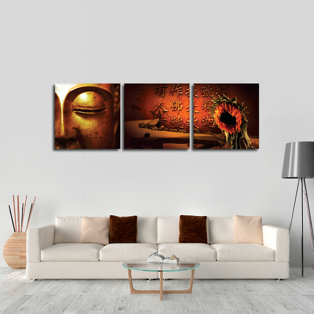 Buddhas quotes multi panel canvas wall art elephantstock