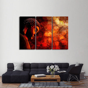 Buddhist Meditation Multi Panel Canvas Wall Art - Buddhism