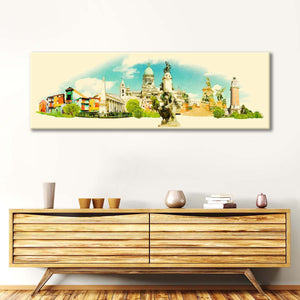 Buenos Aires Landmarks Multi Panel Canvas Wall Art - Landmarks