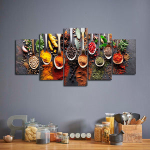 Burst Of Flavor Multi Panel Canvas Wall Art - Kitchen