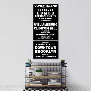 Bus Roll Brooklyn Multi Panel Canvas Wall Art - City