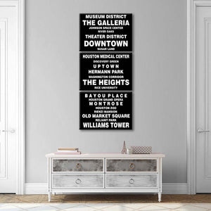 Bus Roll Houston Multi Panel Canvas Wall Art - City