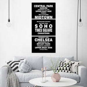 Bus Roll NYC Multi Panel Canvas Wall Art - City