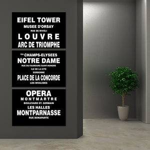 Bus Roll Paris Multi Panel Canvas Wall Art - Paris