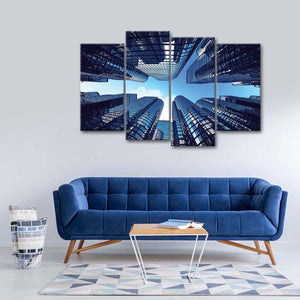 Business Towers Multi Panel Canvas Wall Art - Architecture