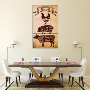 Butcher Favorite Multi Panel Canvas Wall Art - Kitchen