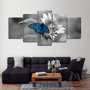 Butterfly Pop Multi Panel Canvas Wall Art - Flower