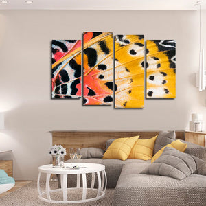 Butterfly Wing Multi Panel Canvas Wall Art - Animals